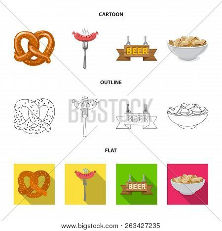 Vector Illustration Of Pub And Bar Icon. Set Of Pub And Interior Stock Vector Illustration.