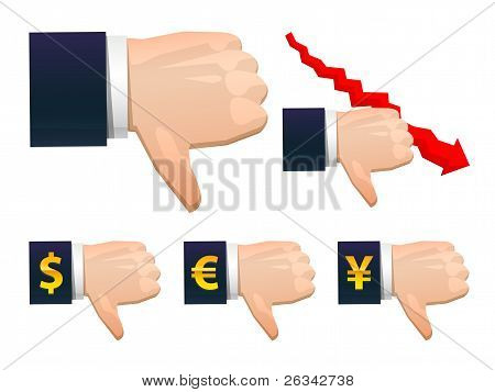 vector business fail hand