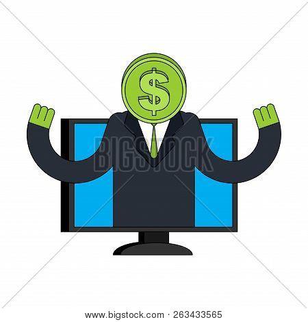 Financial Assistant Online Consultant. Cash Advises Client. Money Business Help Service. Customer Se