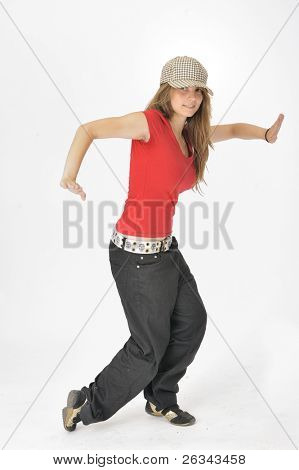 sportive dancer girl