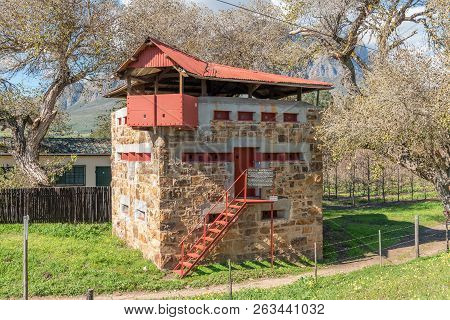 Wolseley, South Africa, August 8, 2018: One Of Two Historic Blockhouses, Dating From The Anglo Boer