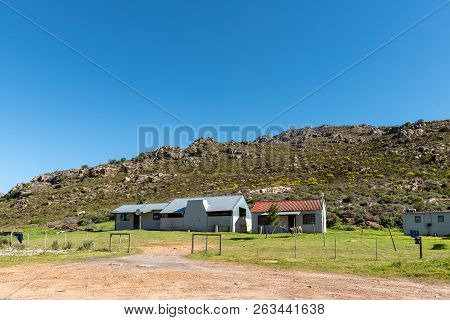 Bains Kloof, South Africa, August 8, 2018: Farm Buildings At The Start Of The Historic Bains Kloof P