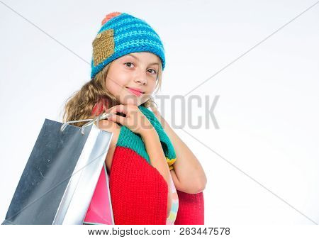 Shopping Concept. Fall Season Sales. Sale And Discount. Shopping Fall Winter Season. Shopping On Bla