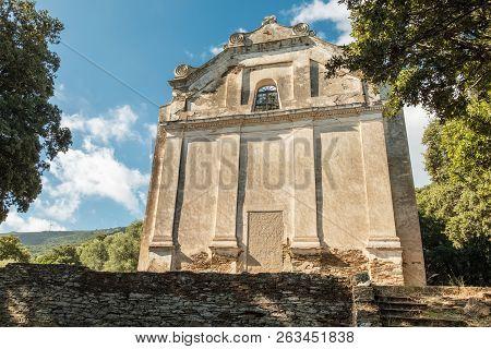 Derelict And Abandoned Church At Grannaggiolo In Corsica