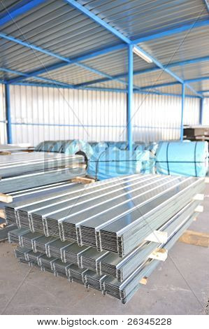 Stack of corrugated steel sheet
