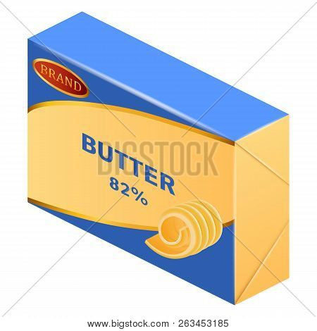 Commercial Butter Icon. Realistic Illustration Of Commercial Butter Vector Icon For Web Design