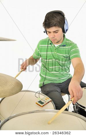 Young with  Metronome and drums