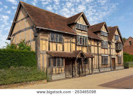 Playwright William Shakespeare's birthplace in Stratford-upon-Avon, Warwickshire, England.