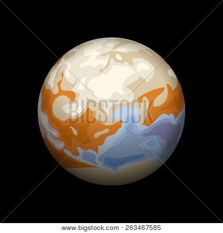 Io Planet Icon. Isometric Of Io Planet Vector Icon For Web Design Isolated