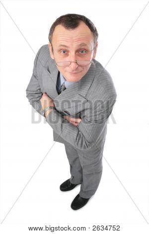 Man In Grey Suit Watching