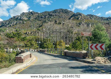 A Single Lane Road Bridge, Called Borcherds Bridge, The Historic Bains Kloof Pass In The Western Cap