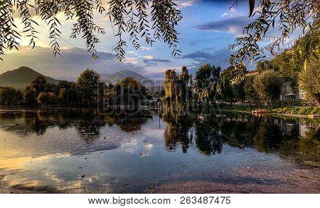 Lake Landscape In Posta Fibreno Lazio Italy