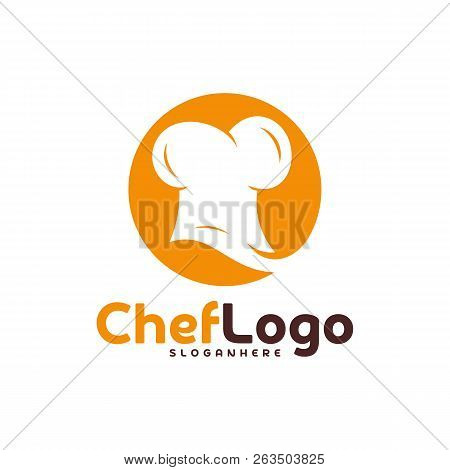 2c2d8296d2b6c Chef Hat Logo Vector Template. Chef Emblem Design. Food Logo Vector Template .