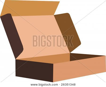 Vector  image of a packing box
