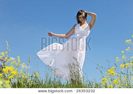 Girl In White Dress.