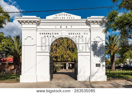 Wellington, South Africa, August 8, 2018:  The King Edward Vii Coronation Arch At Victoria Park In W