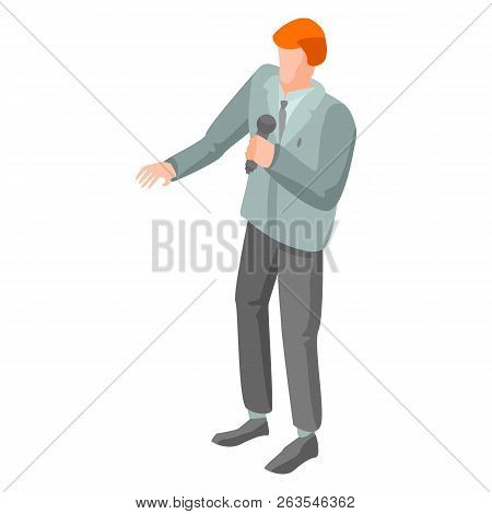 Protest Leader Icon. Isometric Of Protest Leader Vector Icon For Web Design Isolated On White Backgr