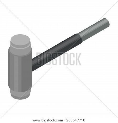 Contruction Hammer Icon. Isometric Of Contruction Hammer Vector Icon For Web Design Isolated On Whit