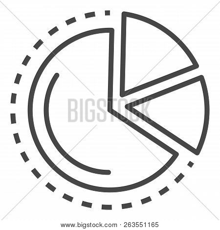 Finance Diagram Icon. Outline Finance Diagram Vector Icon For Web Design Isolated On White Backgroun