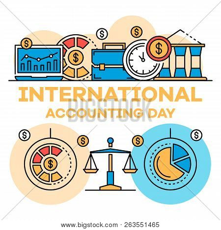 International Accounting Day Banner. Outline Illustration Of International Accounting Day Vector Ban