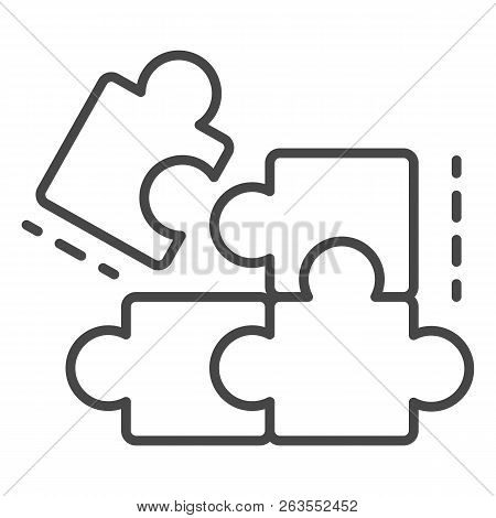 Complete Puzzle Solution Icon. Outline Complete Puzzle Solution Vector Icon For Web Design Isolated