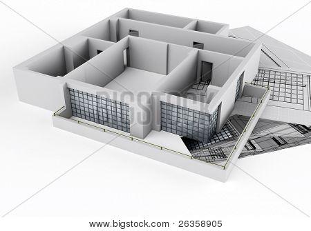 #d house plan
