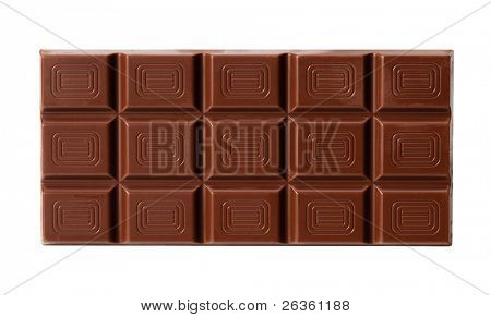 Chocolate isolated on white