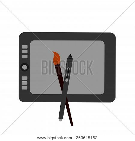 Vector Icon And Sign For Digital Artist Isolated On White Background