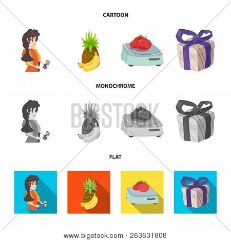 Vector Illustration Of Food And Drink Symbol. Collection Of Food And Store Vector Icon For Stock.