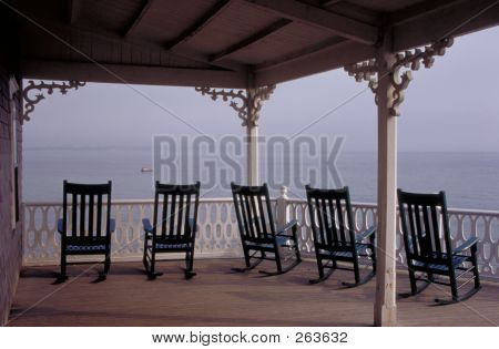 Porch With Rocking Chairs