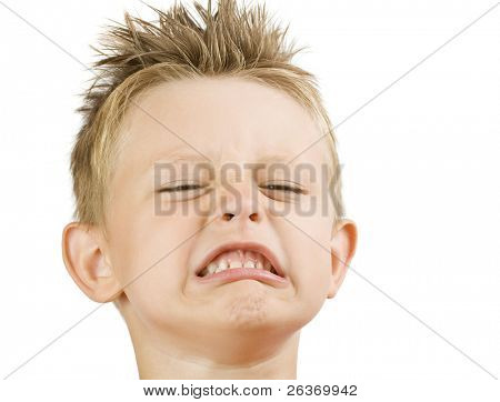 funny little boy's face; making faces