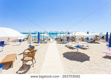 Lido Venere, Apulia, Italy - Runway To The Beautiful Beach Of Spiaggia Di Posto Vecchio