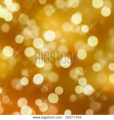 golden glittering lights
