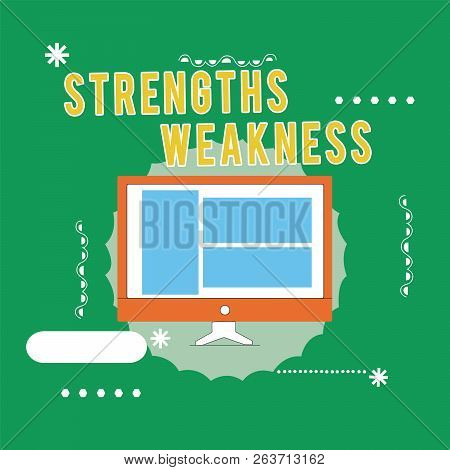 Conceptual Hand Writing Showing Strengths Weakness. Business Photo Text Opportunity And Threat Analy