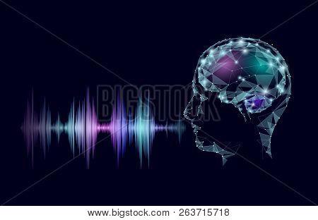 Virtual Voice Computer Online Assistant Concept. Voice Sound Recognizer Help Service Business Smartp