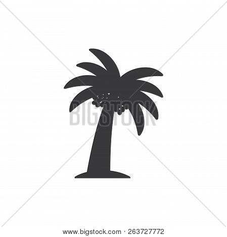 Palm Tree Vector Icon On White Background. Palm Tree Icon In Modern Design Style. Palm Tree Vector I