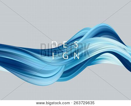 Abstract Colorful Vector Background, Color Flow Liquid Wave