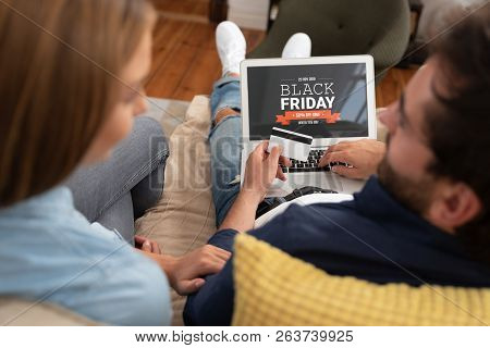 Black Friday Promotion Sale On Laptop Screen
