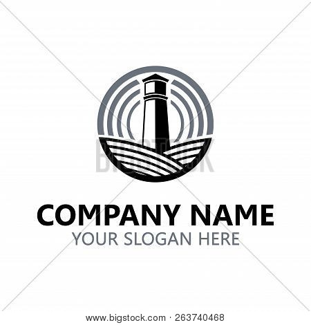 Lighthouse Logo. Lighthouse Design Template. Vector And Illustration.
