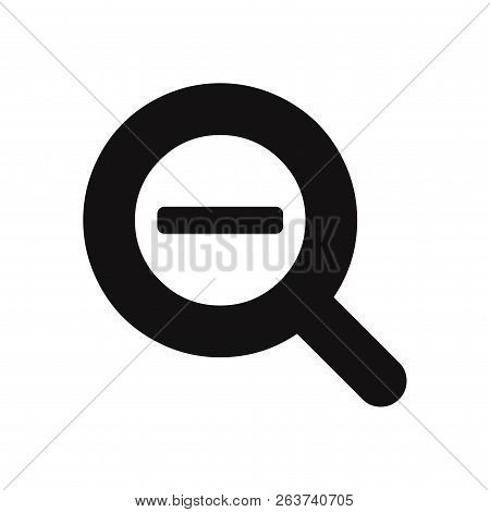 Zoom Out Magnifier Icon Isolated On White Background. Zoom Out Magnifier Icon In Trendy Design Style