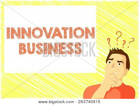 Word Writing Text Innovation Business. Business Concept For Introduce New Ideas Workflows Methodolog