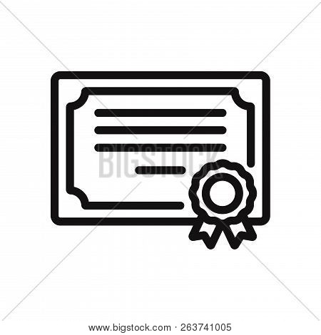 Certificate Icon Isolated On White Background. Certificate Icon In Trendy Design Style. Certificate
