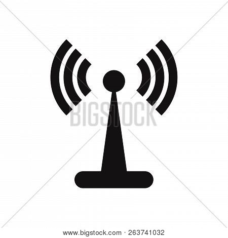 Wifi Signal Tower Icon Isolated On White Background. Wifi Signal Tower Icon In Trendy Design Style.