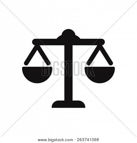 Law Scale Icon Isolated On White Background. Law Scale Icon In Trendy Design Style. Law Scale Vector