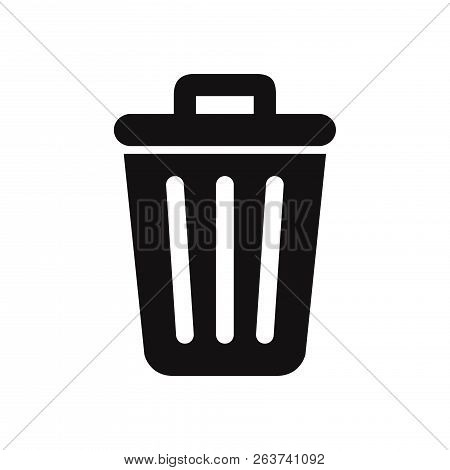 Trash Icon Isolated On White Background. Trash Icon In Trendy Design Style. Trash Vector Icon Modern