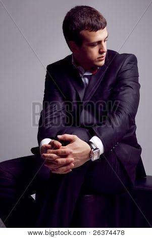 Closeup portrait of an elegant man