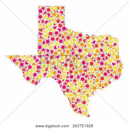 Collage Map Texas Vector Photo Free Trial Bigstock