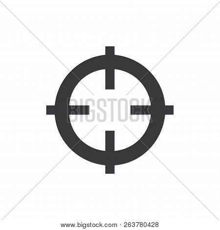 Cross Hair Vector Icon On White Background. Cross Hair Icon In Modern Design Style. Cross Hair Vecto