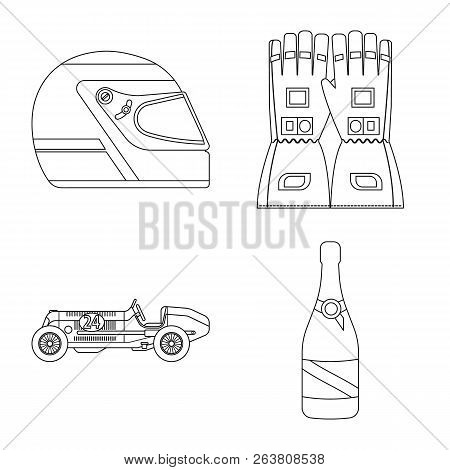Isolated Object Of Car And Rally Logo. Collection Of Car And Race Stock Symbol For Web.
