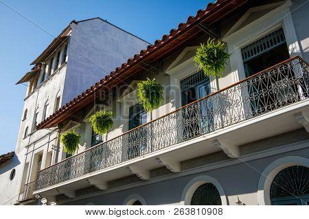 Beautitful Facade,  Building Exterior In Old Town - Casco Viejo, Panama City